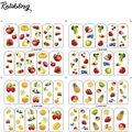 Roalbling all kinds of  fruits with  apple&banana&purple water transfer nail sticker for nails stickers cheap art apple sticker