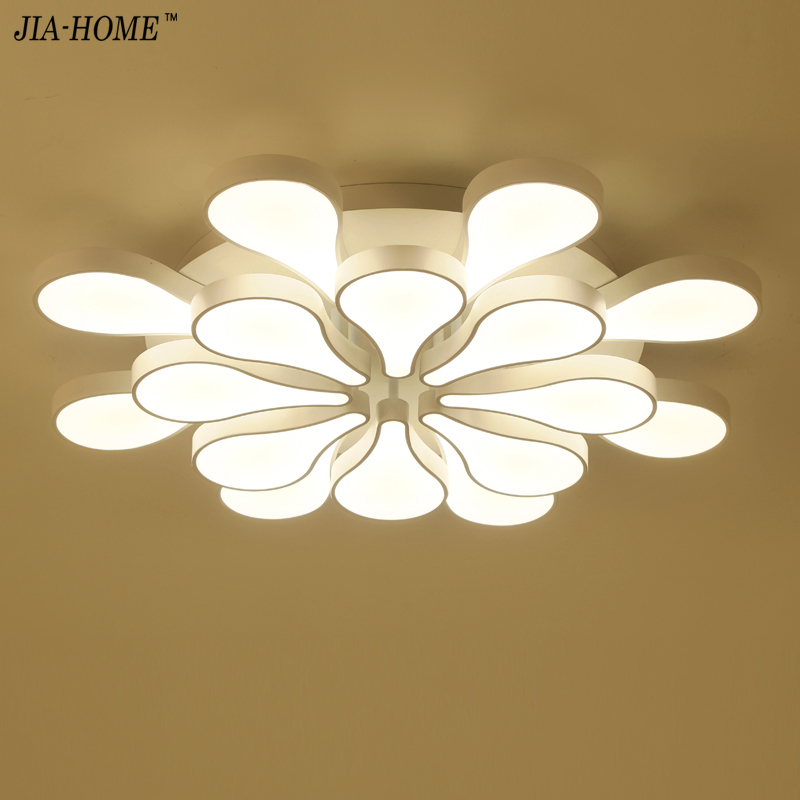 Novelty Dimming Led ceiling light for bedroom or switch with water drop style for dinning room or restaurant lighting lustre
