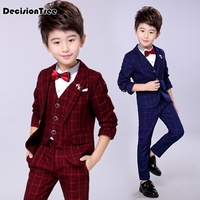 2019 new boys formal suits for weddings kids performance party blazer shirts pants tuxedo clothing set child gentleman costume