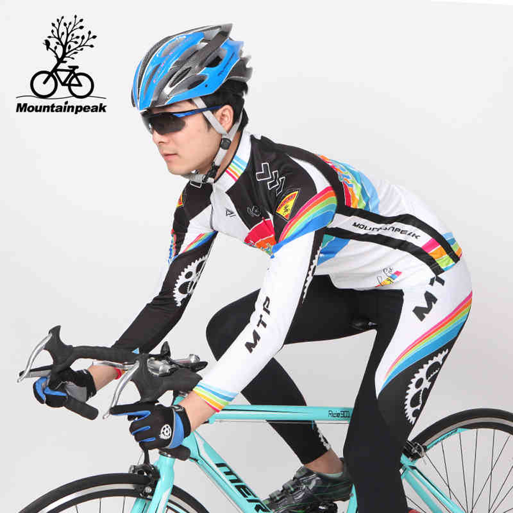 2017 Pro Team Long Sleeve Cycling Jersey Set Men Thin Ciclismo Quick-dry Bike Cloth Bicycle Maillot For Man Riding Skinsuit