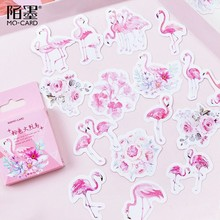 45pcs/box Cute Flamingo/Cat/otter Stationery Stickers Kawaii Decorative Stickers Scrapbookingg Diary Bullet Journal Sticker