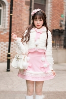 Princess Sweet Lolita Fur Coat Candy Rain Autumn And Winter Sweet And Loose Sleeves Short Sleeves