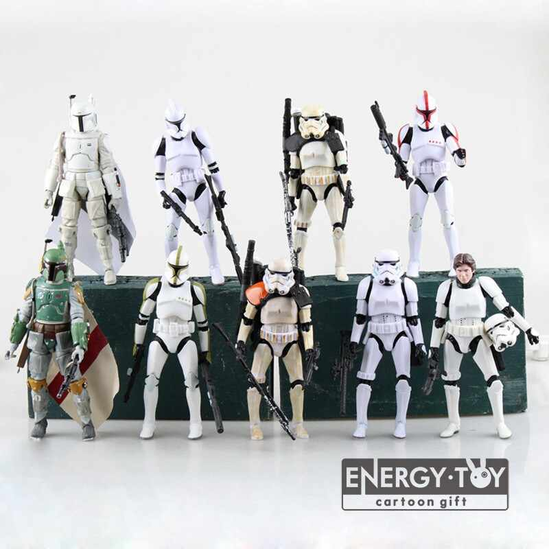 Star Wars The Black Series Han Solo Boba Fett Stormtrooper Imperial Sandtrooper PVC action figure modelo boneca de brinquedo 6""