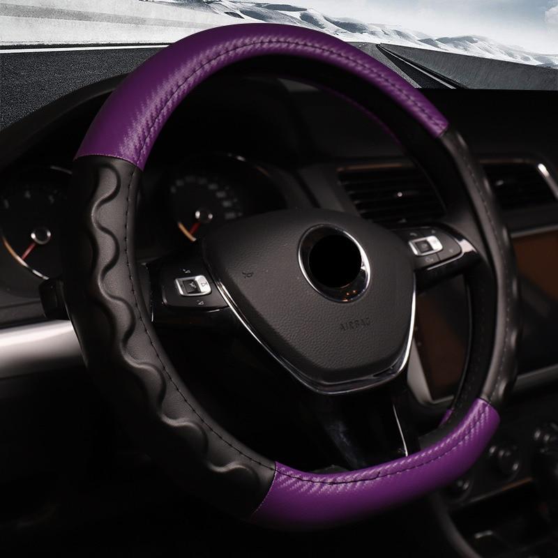Cubierta de volante de piel con purpurina para las mujeres
