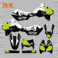 Motorcycle Decals Customize Pattern Custom Made Stickers Set For SUZUKI DRZ400SM DRZ400S RM125 250 RMZ250 450 RMX250 DR250 DRZ