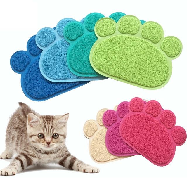 Популярные домашние животные маленькие со следами ног коврик для сна подстилка для кошки собаки щенка чистая миска для корма настольные коврики протирать