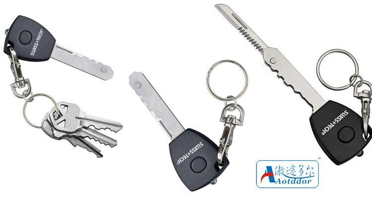 1pcs 5-in-1 keychain Self defense supplies Switzerland a 007-hidden key genuine knife Led lights Camping equipment Survival kit