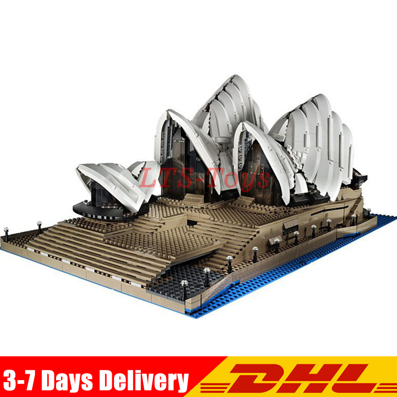 LEPIN 17003 Creator Expert Sydney Opera House 2989pcs Building Blocks Australia's architectural Compatible with Legoed 10222 lepin 17003 2989pcs sydney opera house model building kits blocks bricks toys compatible legoed 10222