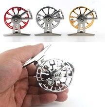 CHAMSGEND roue de pêche à la mouche droite DG55 diamètre 55mm pêche à la mouche ligne directe ronde sandpiper lancer roue de pêche