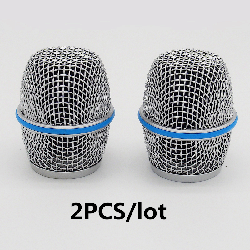 Finlemho Microphone Shield Mesh Accessories Covers 2PCS Windscreen Ball Head Grill Beta 87A For Handheld Microphone Wireless