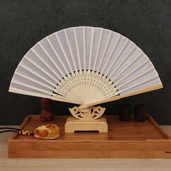 Free Shipping Wholesale 50pcs/lot Multi-colors Fabric Chinese Bamboo Folding Fan 21cm Wedding Favors and Gifts Party Favors