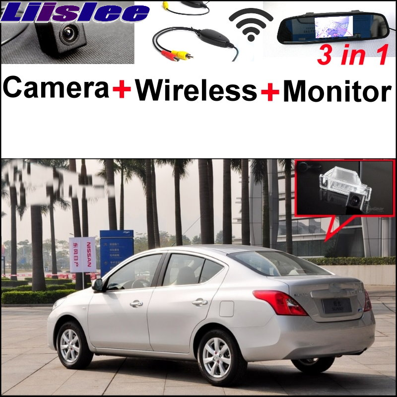 Liislee 3in1 Special Rear View Camera + Wireless Receiver + Mirror Monitor Easy Parking System For Nissan Sunny N17 2011~2014