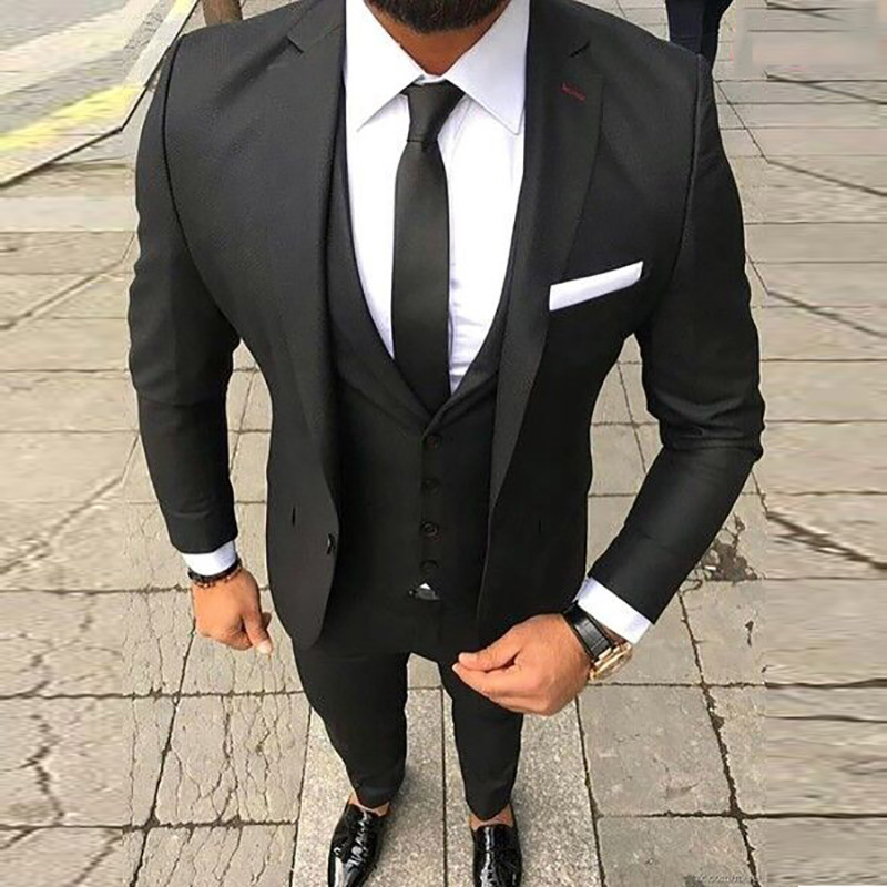 Noir Image Mariage Fit Hommes Le As Classique custom Made Pour Slim Masculino Marié Smokings Custom Costume The Costumes 2018 Ternos Mens qSzpUMV