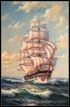 Borduren Geteld Borduurpakketten Handwerken Ambachten 14 ct DMC Kleur DIY Arts Handgemaakte Decor Fregat