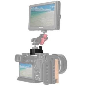 """Image 4 - NICEYRIG מצלמה מהדק שחרור מהיר נאט""""ו מהדק הר עם 3/8 """"1/4"""" 20 ו M2.5 בורג חור מצלמה צג מחזיק במהירות 1/4"""""""