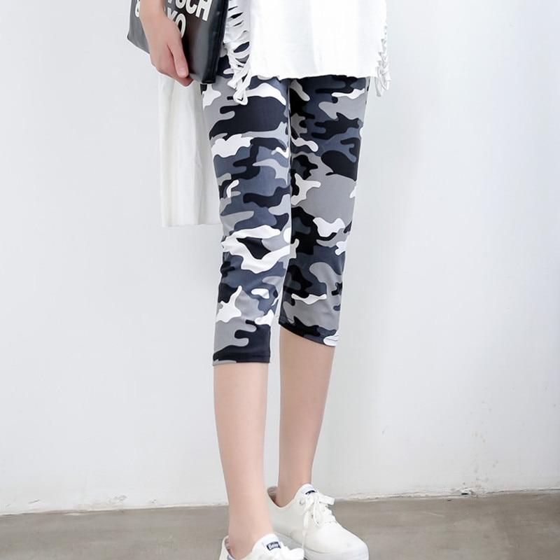 Camouflage Print Mid-Calf Leggings For Women Slim Casual Elastic Capri Pants Legging Summer Female Stretch Leggings Calzas Mujer