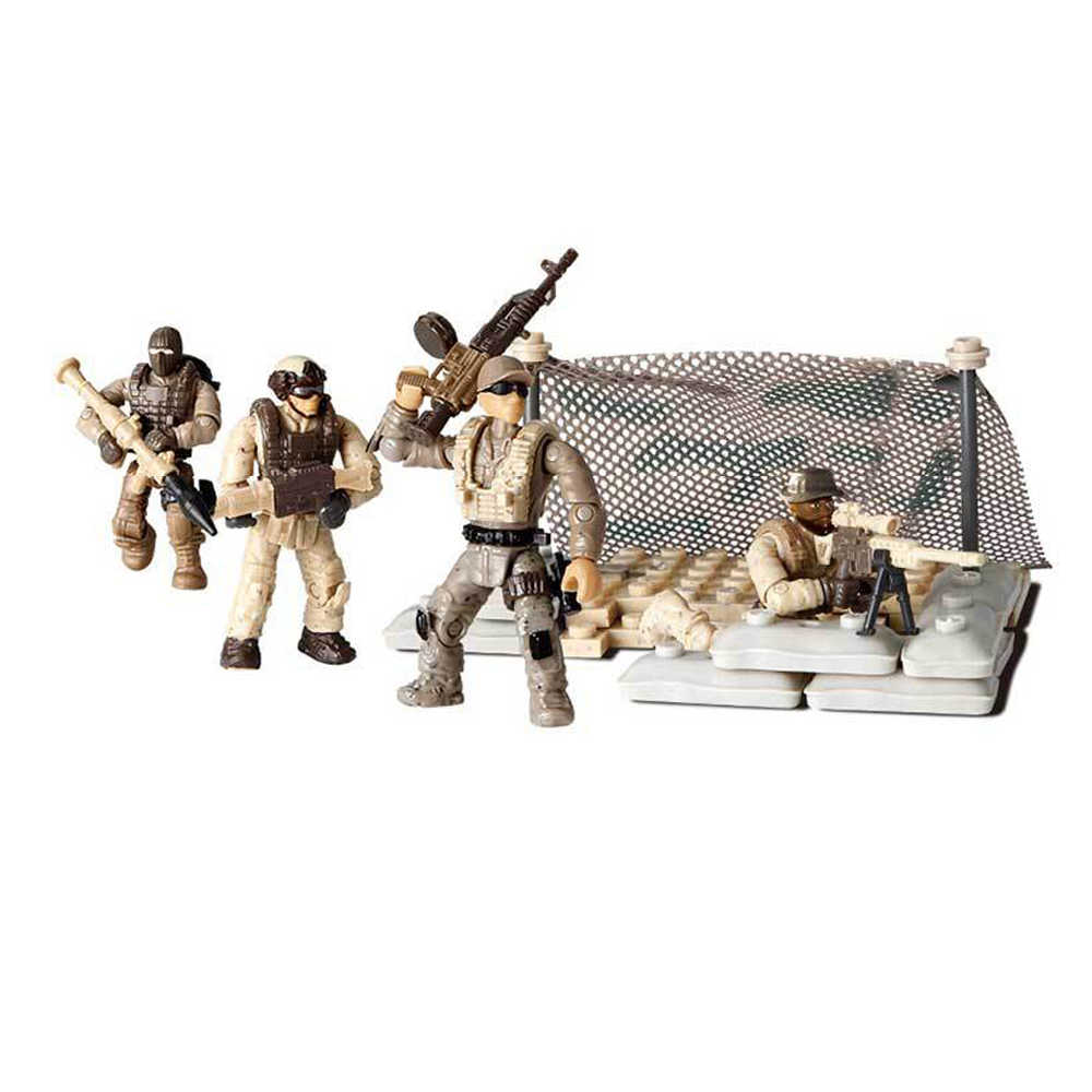 Hot modern military soldiers Sirius Commando scenes mega building block Vanguard lineup army action figures weapon bricks toys
