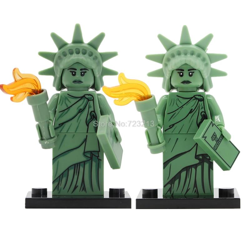 Statue Of Liberty Single Sale Freedom Goddess Building Blocks Educational Sets Models Bricks Toys For Children etonweag brands cow leather schoolbag backpack men brown vintage school bags preppy style travel laptop bag fashion luggage