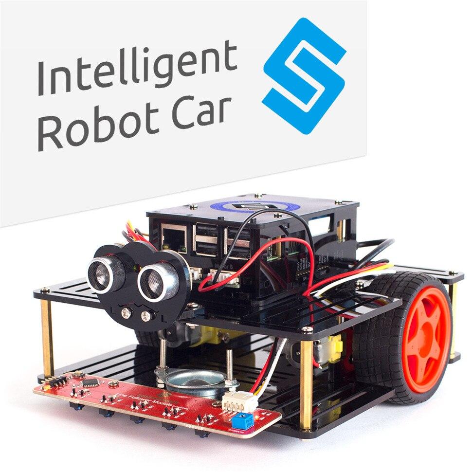 SunFounder AI Robot Voiture Smart Robot Kit Pi Smart Voiture Kit pour Raspberry Pi Modèle B + 3B 3 2B B + Intelligent Robot Voiture
