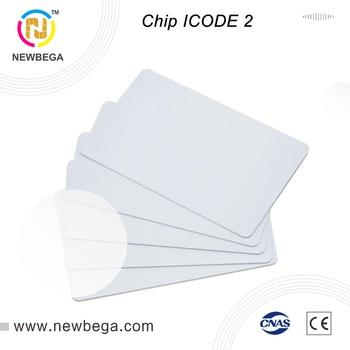 10 шт. RFID чип ICODE SLIX2 13,56 МГц белая карта ISO 15693 ICODE 2 Стандартная карта бесплатная доставка быстрая доставка