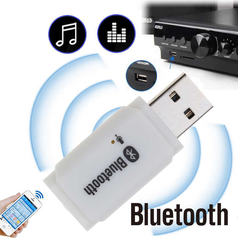 Handsfree Carkit USB Bluetooth Ontvanger Bluetooth 5.0 audio zender adapter voor Auto Speaker MP3 muziekspeler MIC voor telefoon