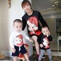 Família Combinando Beleza Camisola Mãe Roupas Filha Da Mãe e Filha Roupas Família Set Estilo Pai-Filho Roupas LF3