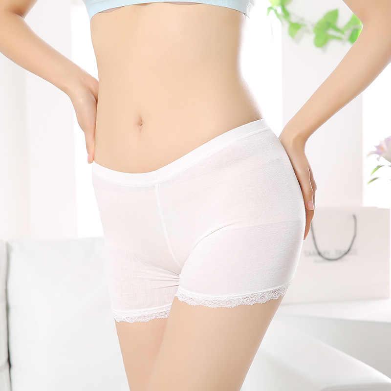 Yasmeen modalne bez szwu krótkim spodnie Ice Silk niewidoczne bezpieczeństwo spodnie dla kobiet bezpieczeństwo krótkie spodnie wygodne damskie bokserki