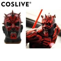 Coslive Darth Maul Mask Star Wars Darth Maul Cosplay Latex Mask Halloween Cosplay Costume Accessory For Unisex