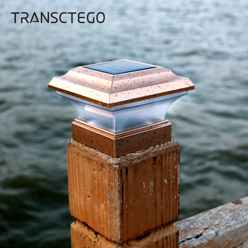 LED Solar Post Lamp Light Sensor Outdoor Waterproof Fence Pathway Landscape Wall Lamp For Garden Decoration Street Solar Light