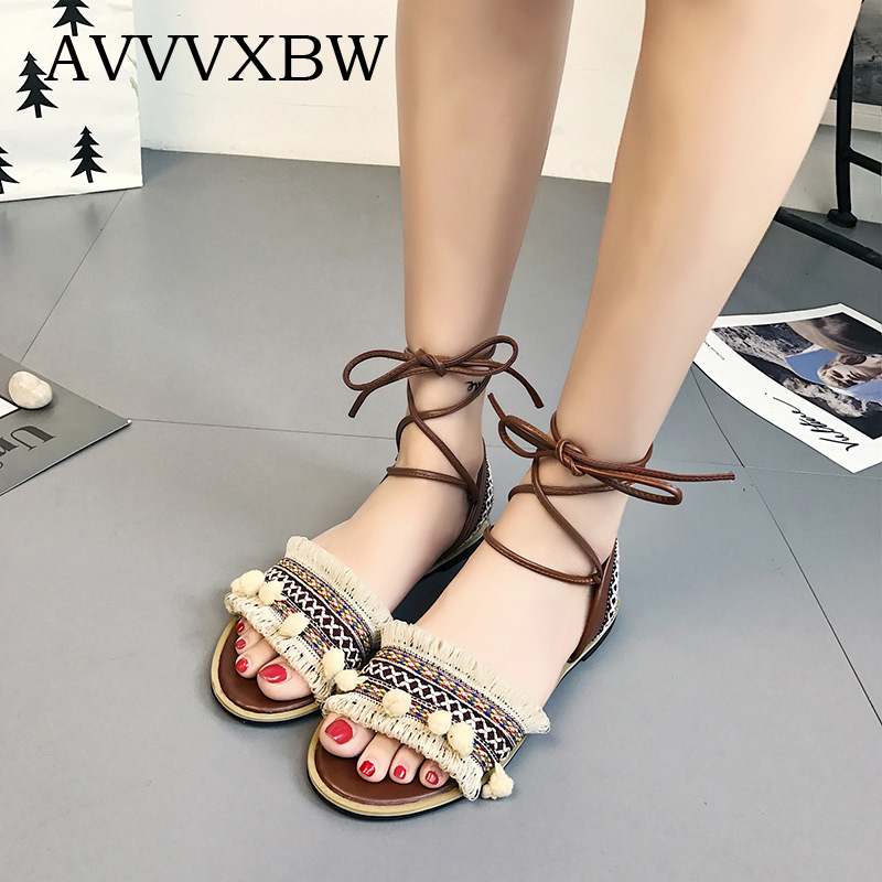 AVVVXBW 2017 Summer Women's Sandals Shoes Nation Wind
