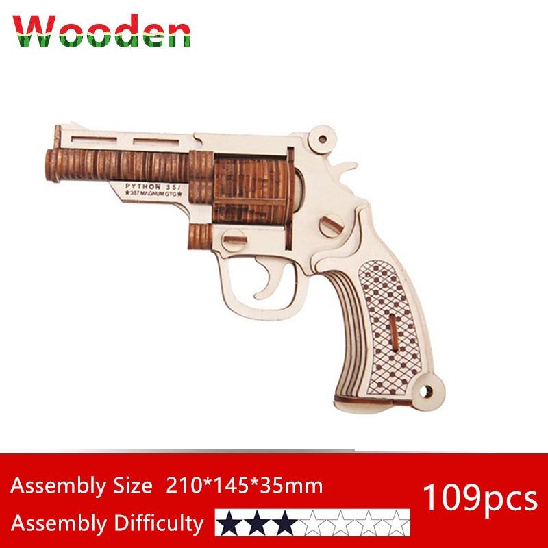 3d wood puzzles Revolver