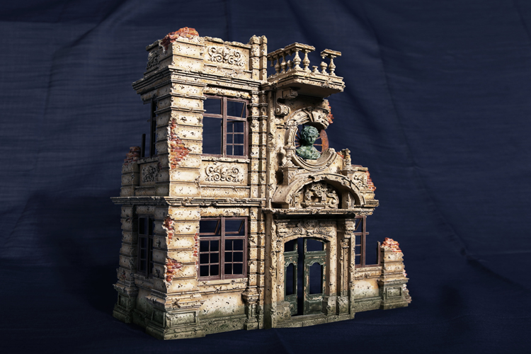 1 35 Resin European Building Model kits 03 WWII scene ruins Unpainted Free shipping DY 35003G