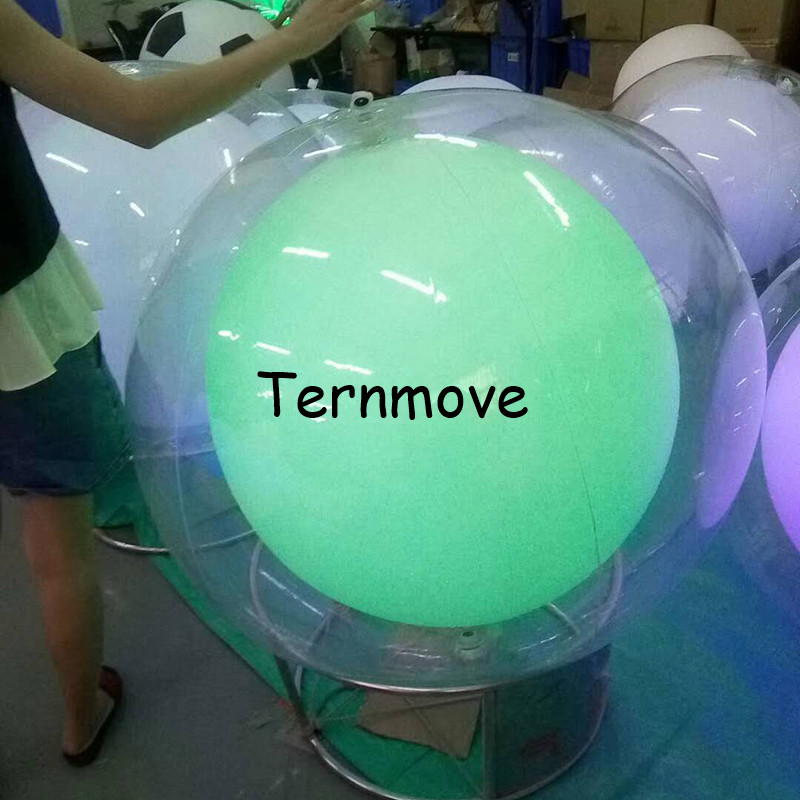 2.5 m dia Double couche mariage/nuit fête/noël/fête LED ballon gonflable balles LED éclairage blanc gonflable publicité