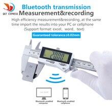 QST EXPRESS IP67 Bluetooth Waterproof Digital Accurate Vernier Caliper Digital Stainless Steel Vernier Caliper 0-150mm