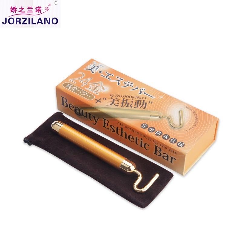 Japan Quality Beauty Instrument 24K Golden Germanium 7 Type Beauty Bar Skincare Tool Face Lift Facial Massage Body shaping tools 24k activity facial mask golden