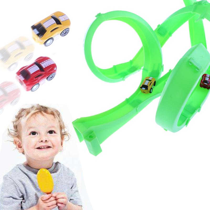 Rail Racing Return-air Car Track Children Race Track Competition Cars Toy Set Kids Educational Toy Birthday Gift