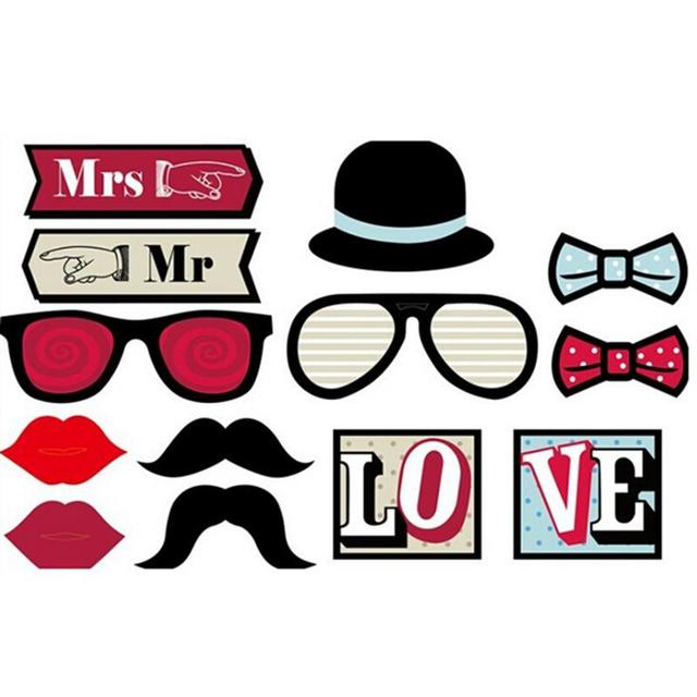 13pcs Diy Funny Photobooth Photo Booth Props For Wedding Birthday