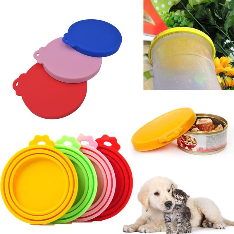 Misterolina 1pc Silicone Sealed Food Can Lid For Puppy Dog Cat Storage Top Cap Reusable Cover Lid Health Pet Daily Products Hot