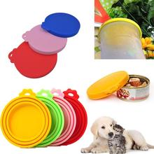 Misterolina 1PC Silicone Sealed Food Can Lid for Puppy Dog Cat Storage Top Cap Reusable Cover Health Pet Daily Products HOT