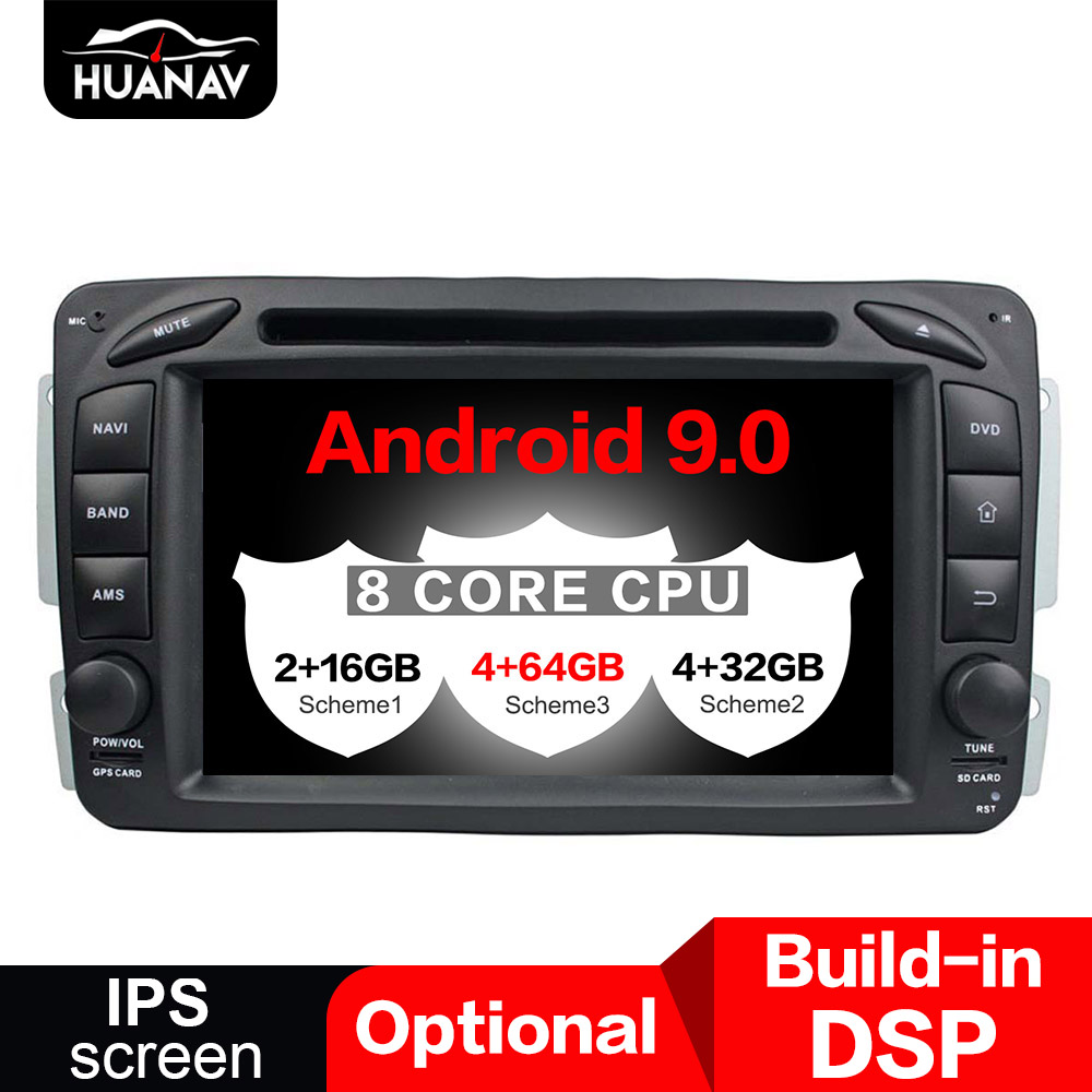 DSP <font><b>Android</b></font> 9.0 Car GPS Navigation DVD Player For Benz ML W163/CLK W2092002-2005 C-Class <font><b>W203</b></font> SLK radio player multimedia Stereo image