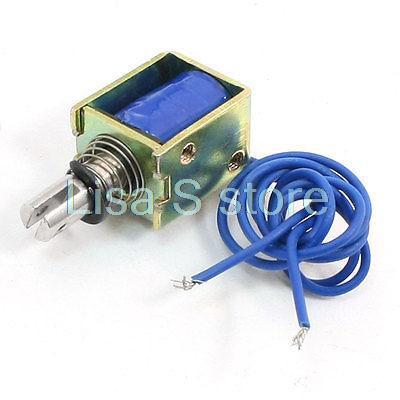 DC 12V DC 24V 4N 10mm Stroke Open Frame Electromagnetic Linear Solenoid HCNE1-0520 Pull Type 24v pull hold release 10mm stroke 6 3kg force electromagnet solenoid actuator