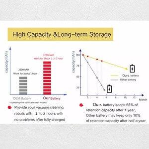 Image 3 - Wysokiej jakości 14.8V 2800mAh/3200mAH akumulator Chuwi akumulator do baterii ILIFE ecovacs A4S V7s A6 V7s pro Chuwi iLife