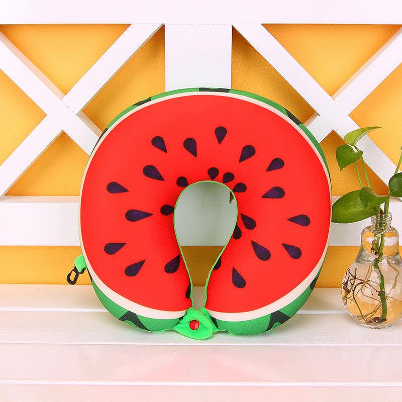 Glorieus 2019 Fruit Print Memory Foam U Vormige Reizen Kussen Nek Ondersteuning Hoofd Rest Vliegtuig Kussen Helder In Kleur