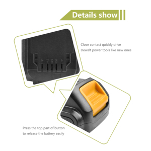 Image 5 - Bonacell MAX XR Battery for Dewalt 4000mAh Replacement Battery for DCB200 DCB181 DCB182 DCB204 2  DCB201 DCB201 2 L50