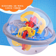 3D Labyrinth Intellect Ball Balance Barrier Magic Maze Puzzle Toy Children Educational YJS Dropship