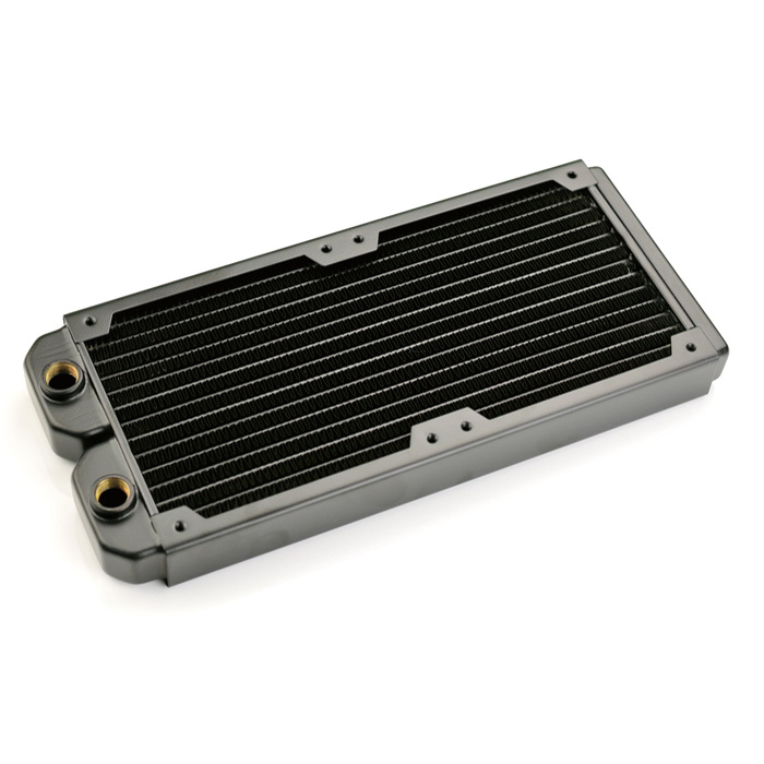 240*30*120mm Black Computer PC Water Liquid cooling Discharge Copper dense fin heat exchanger radiator fan Heat sink G1/4 notebook graphics card thermal conductivity copper cooling copper 30 30 3 0mm pure copper computer heat fins 30x30x3 0 radiator