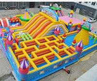Открытый надувной батут из ПВХ батут надувной весело город игровая площадка для детей надувные приспособление для препятствий большой сла