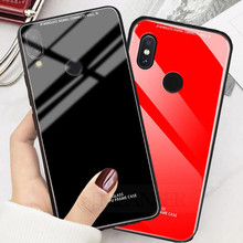 Tempered Glass Case For Redmi 7A Note 7 Pro case glossy Xiaomi redmi note glass Protective Cover luxury
