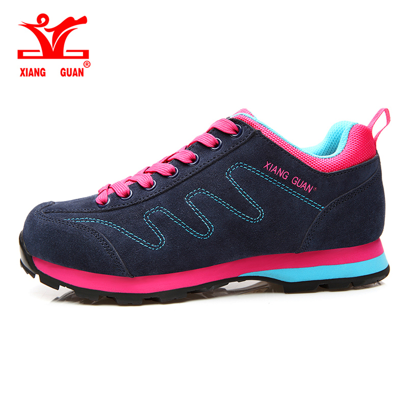 XIANGGUAN Running Shoes Genuine Leather Cow Shoes women Sport Breathable Jogging Walking lady Trainers suede sneakers SIZE 36-39 2017brand sport mesh men running shoes athletic sneakers air breath increased within zapatillas deportivas trainers couple shoes