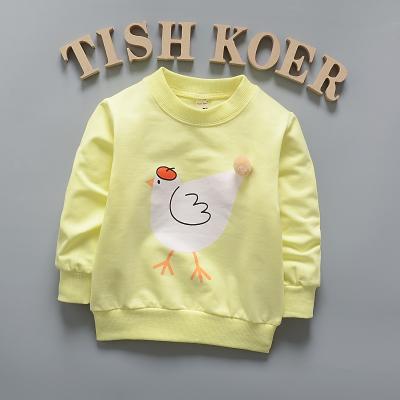HTB1 gi5X ZRMeJjSspoq6ACOFXay - (1piece /lot) 100% cotton 2017 Cute The chicken baby outerwear 0-3 year old